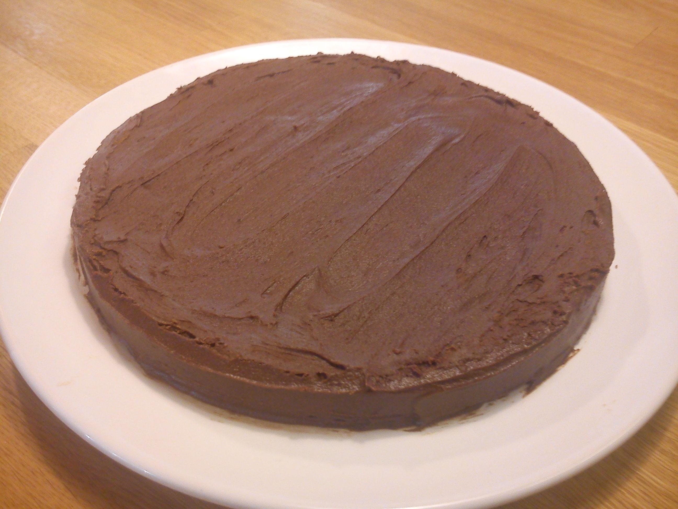Sannas Bästa Kladdkaka m. choklad- och kaffeglasyr