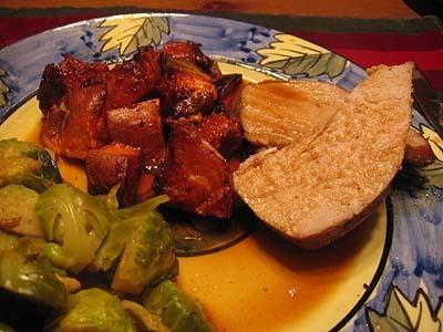 potatisgratäng med skinka broccoli