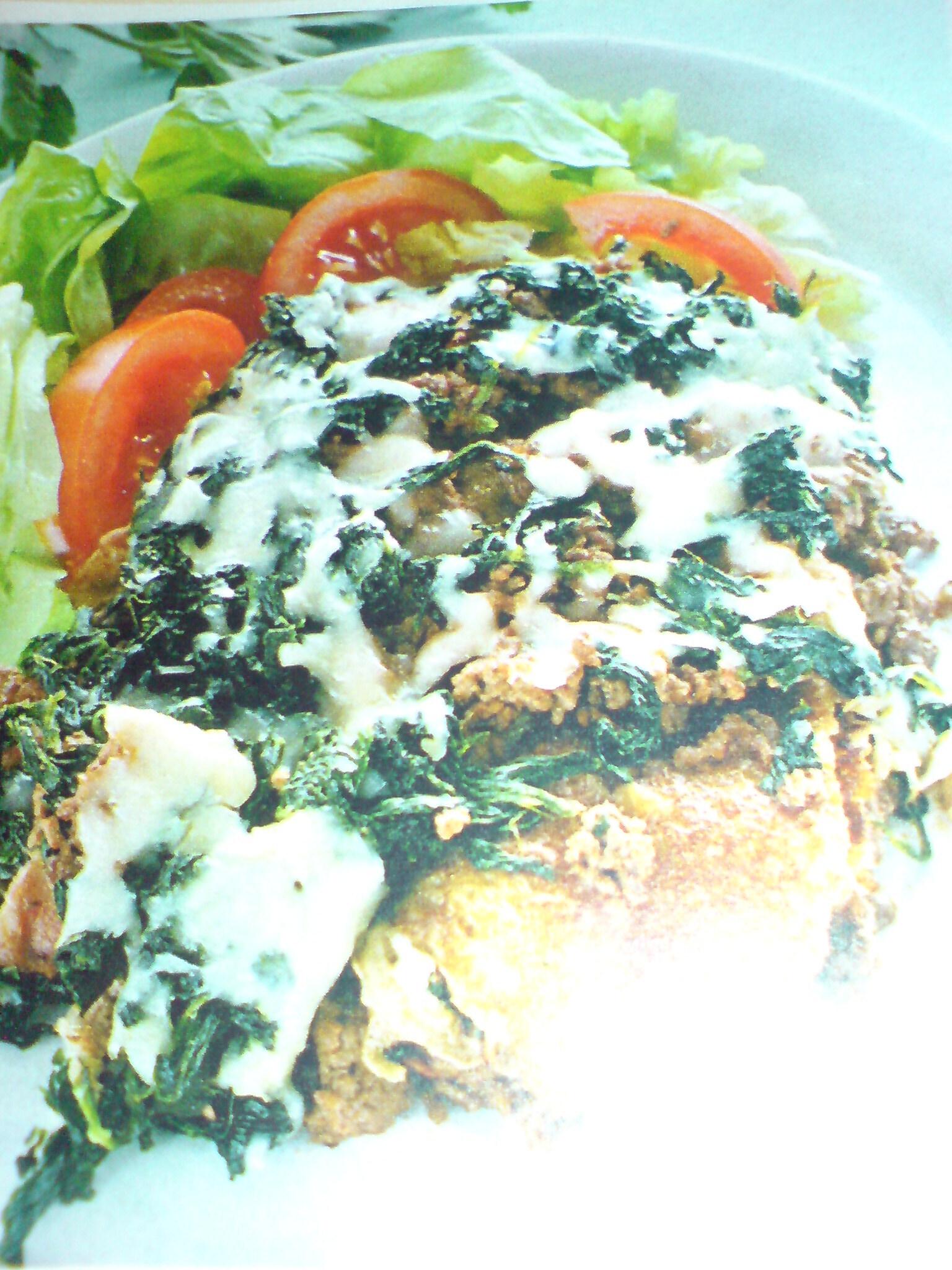 lasagne med köttfärs och spenat