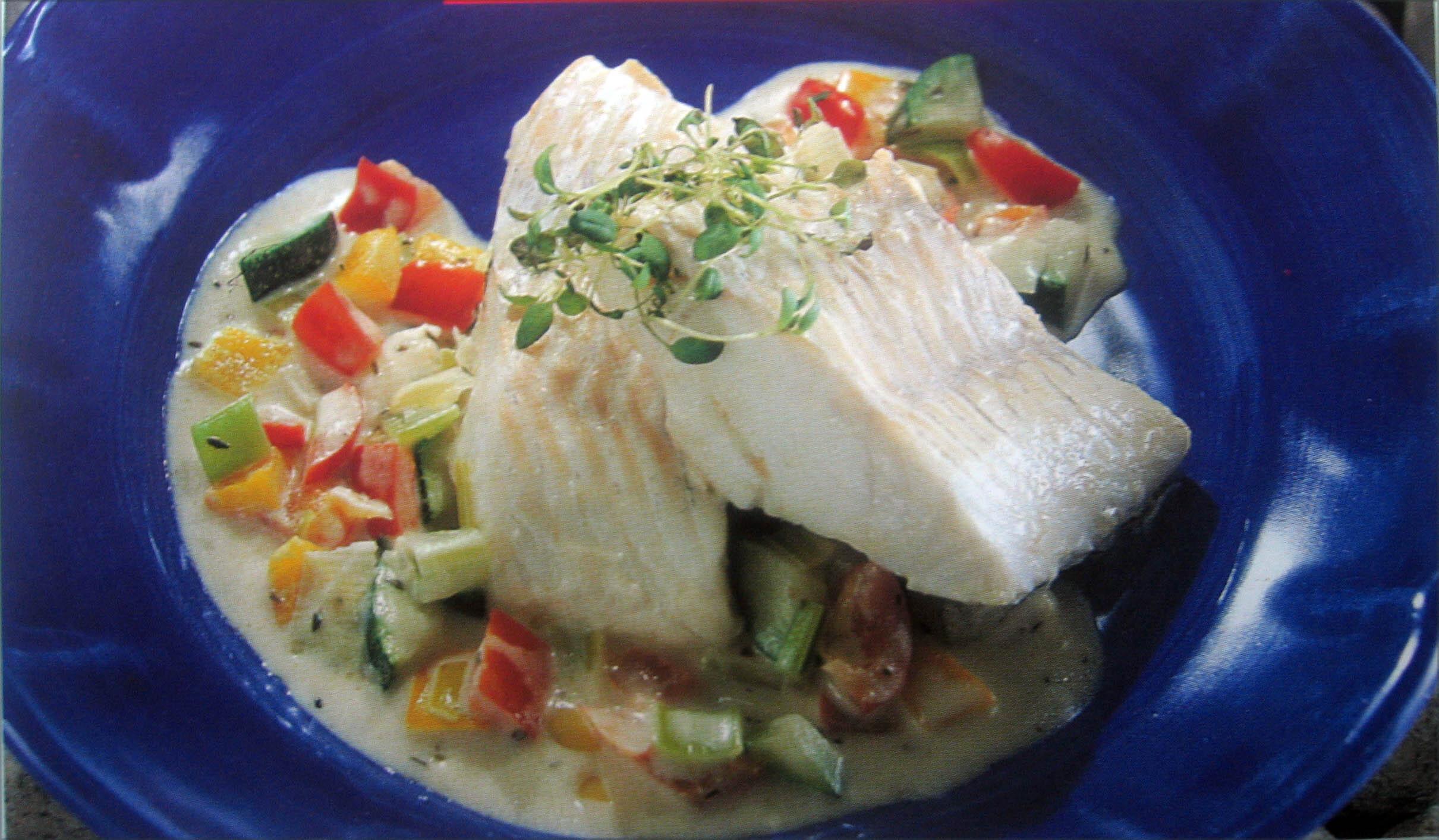 Fisk på grönsak..