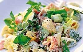 laxpasta med wasabi