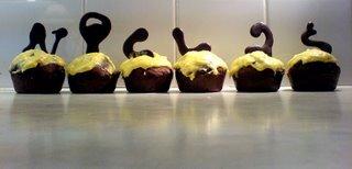 choklad cupcakes frosting utan blockchoklad