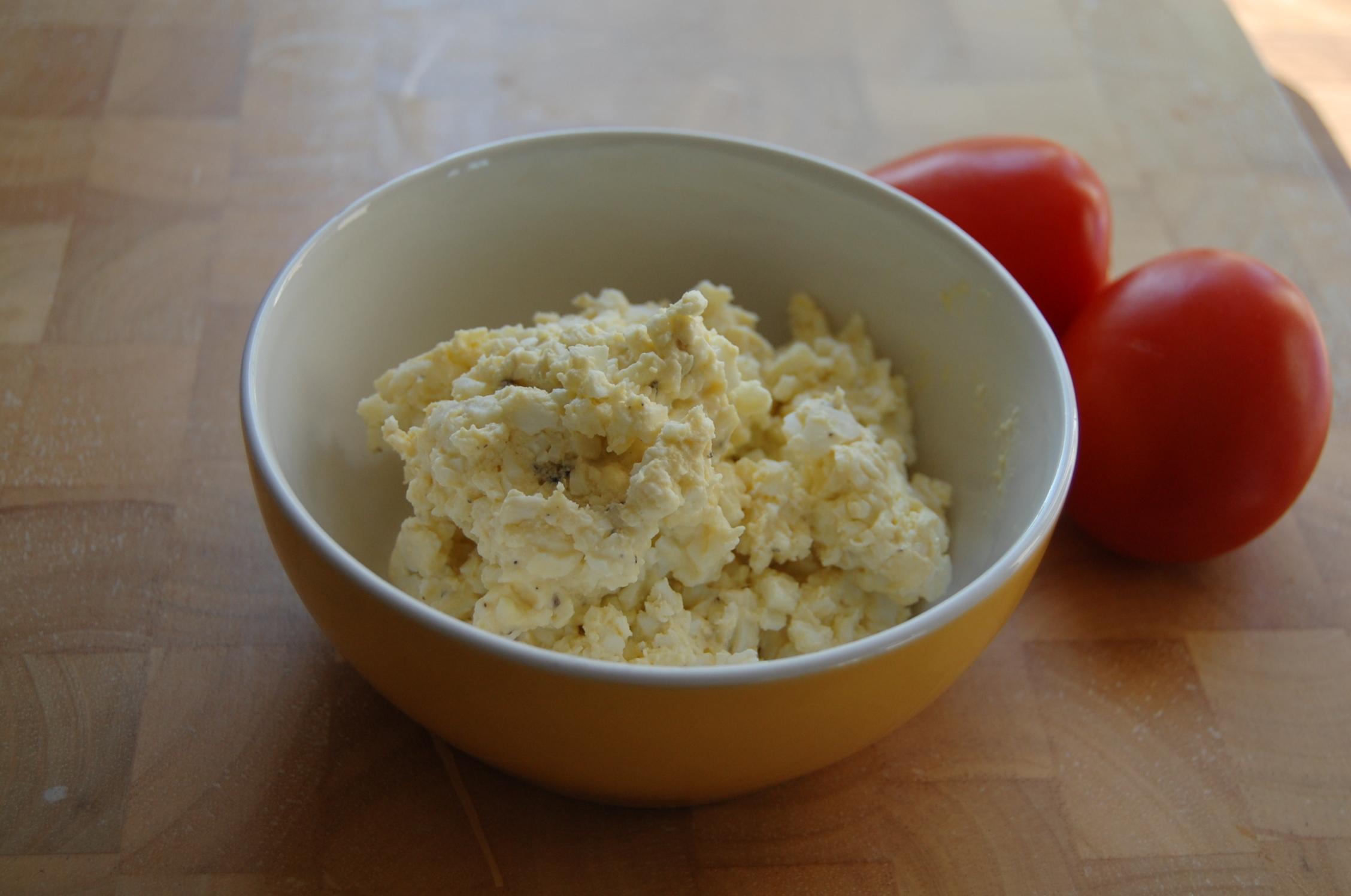 äggsallad med majonäs