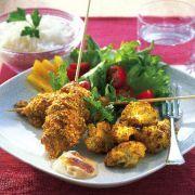Curry- och morotspanerad kyckling med indisk blomkål