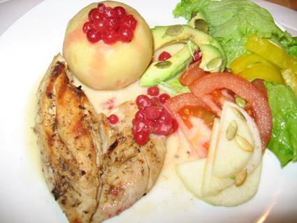 Honungsgrillad kalkon/kyckling med äpple