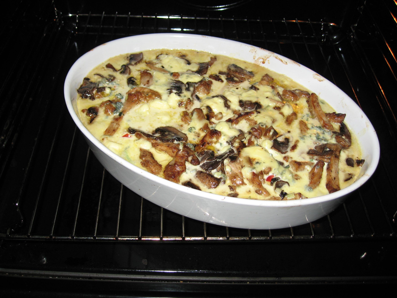 fläskkarre gorgonzola
