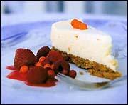 fryst vit chokladcheesecake