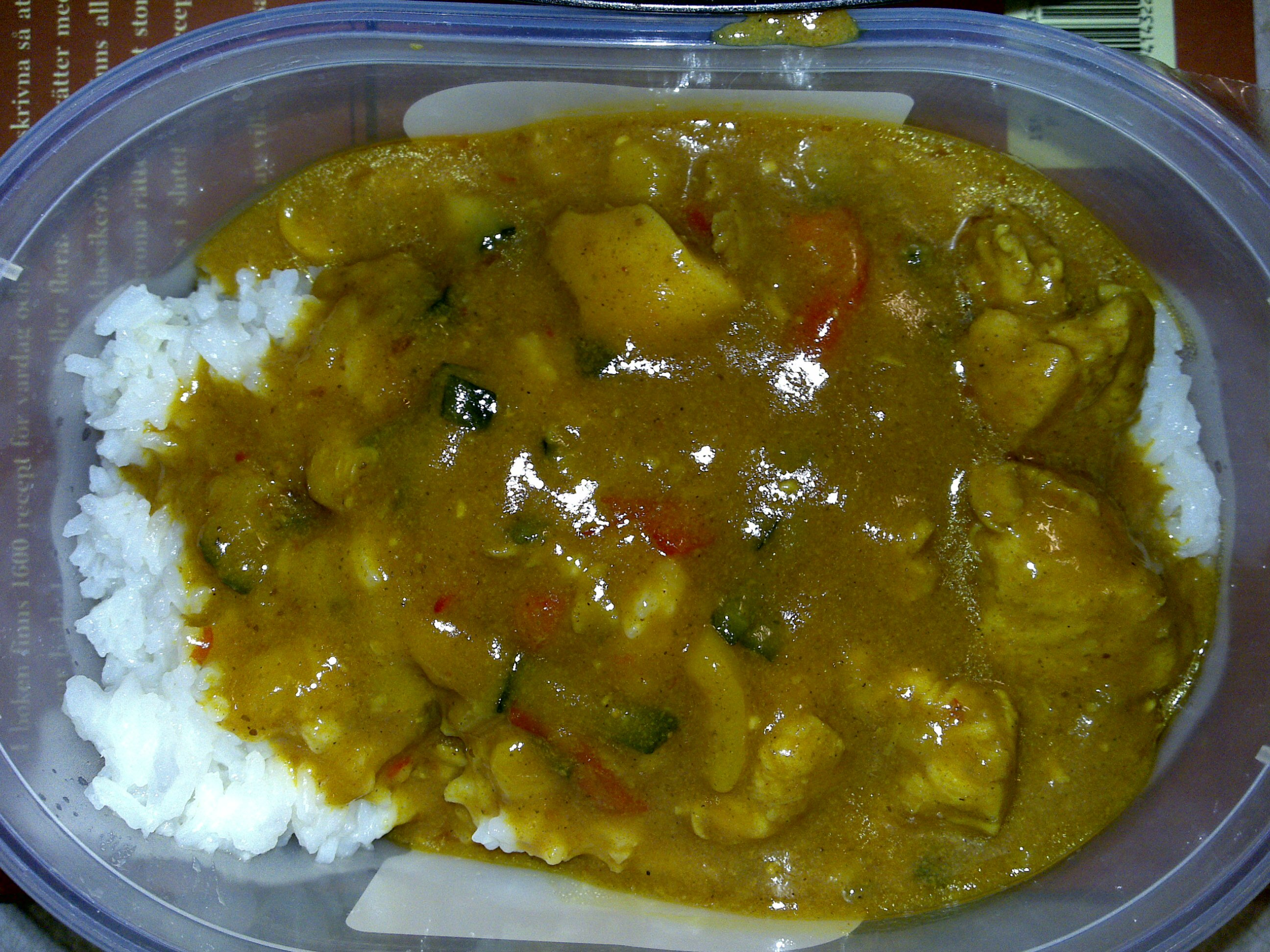 Asiatisk kyckling med curry