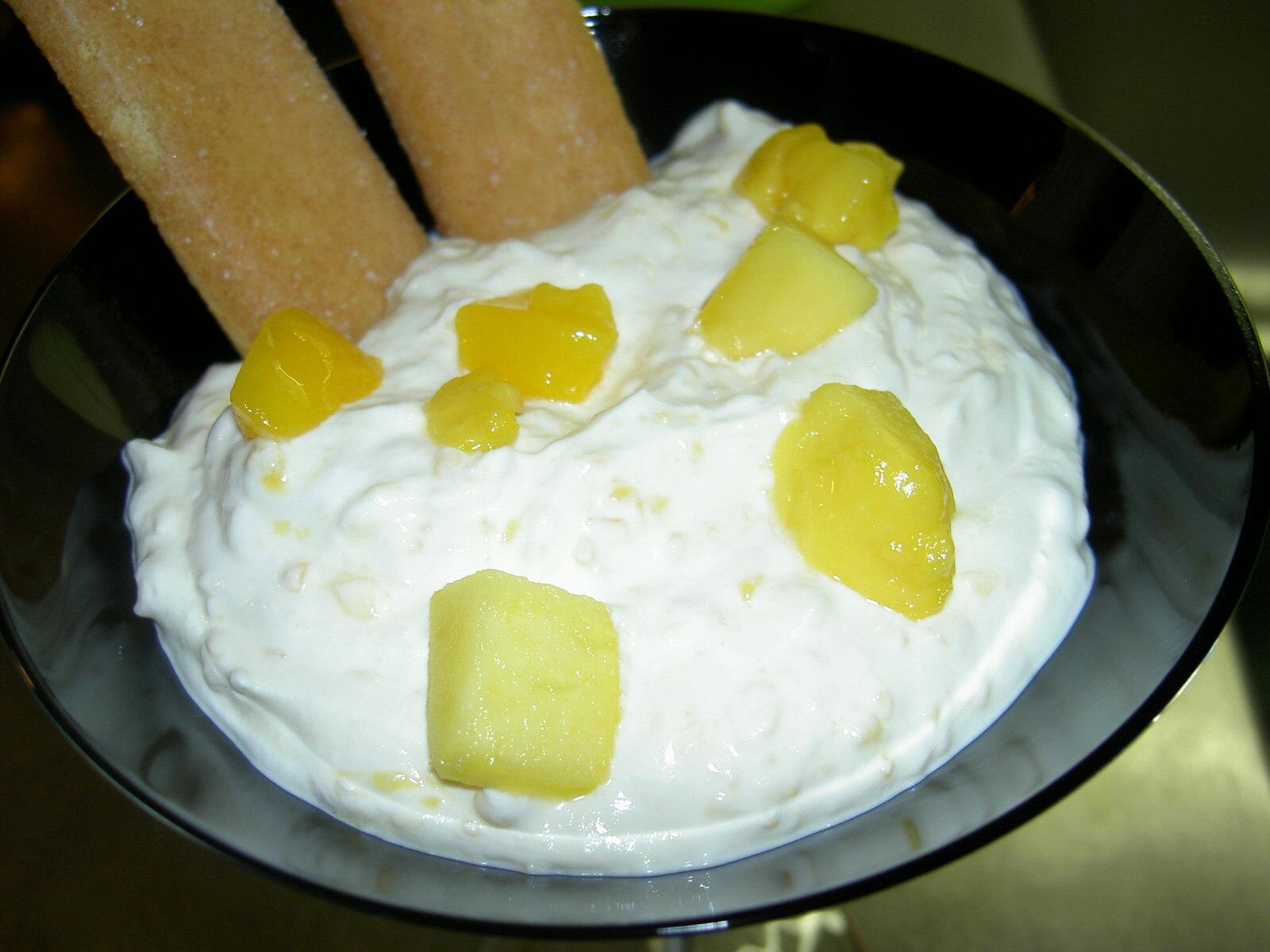 Ricottakräm med mango