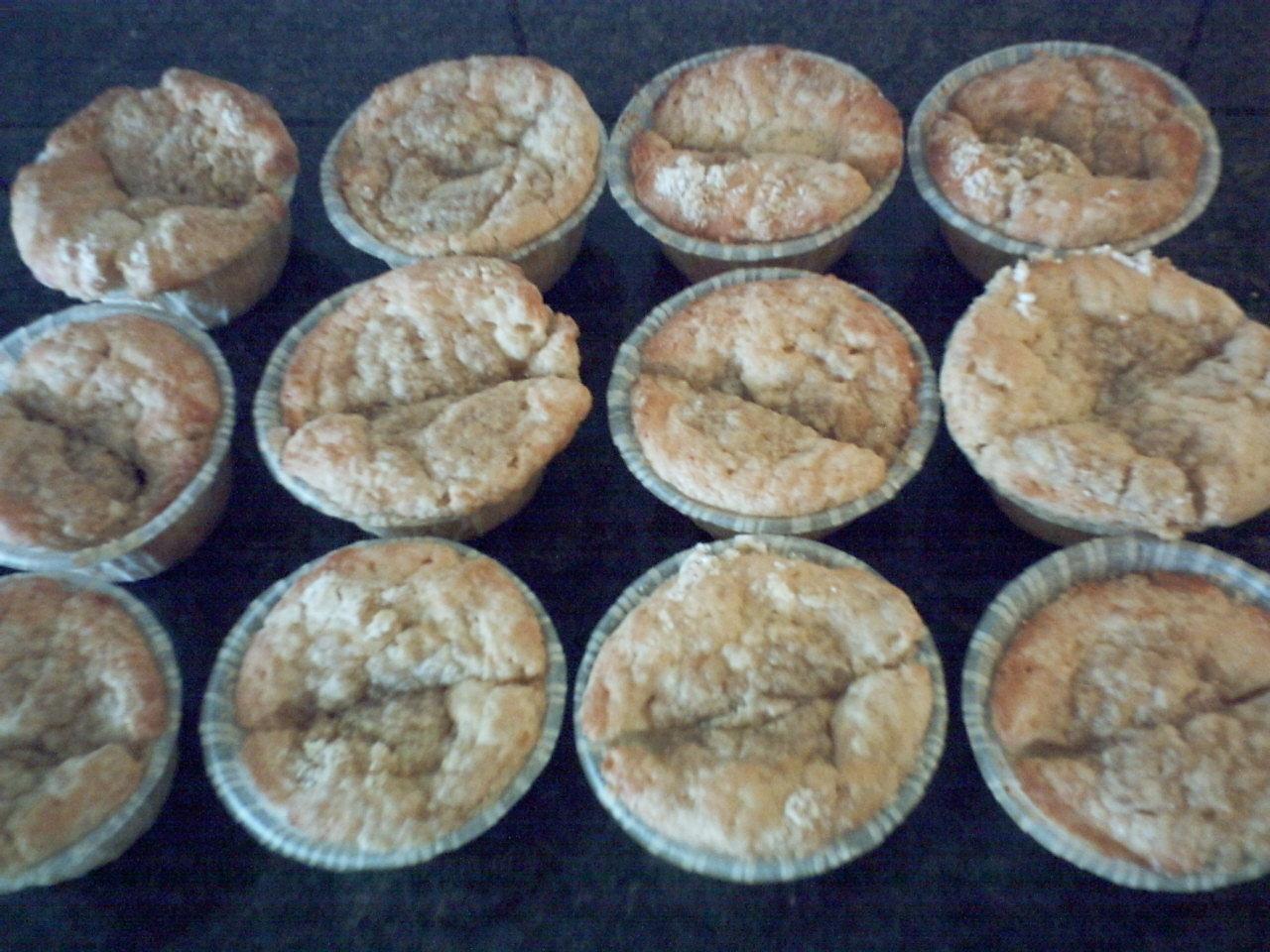 Vaniljtäckta äppelmuffins