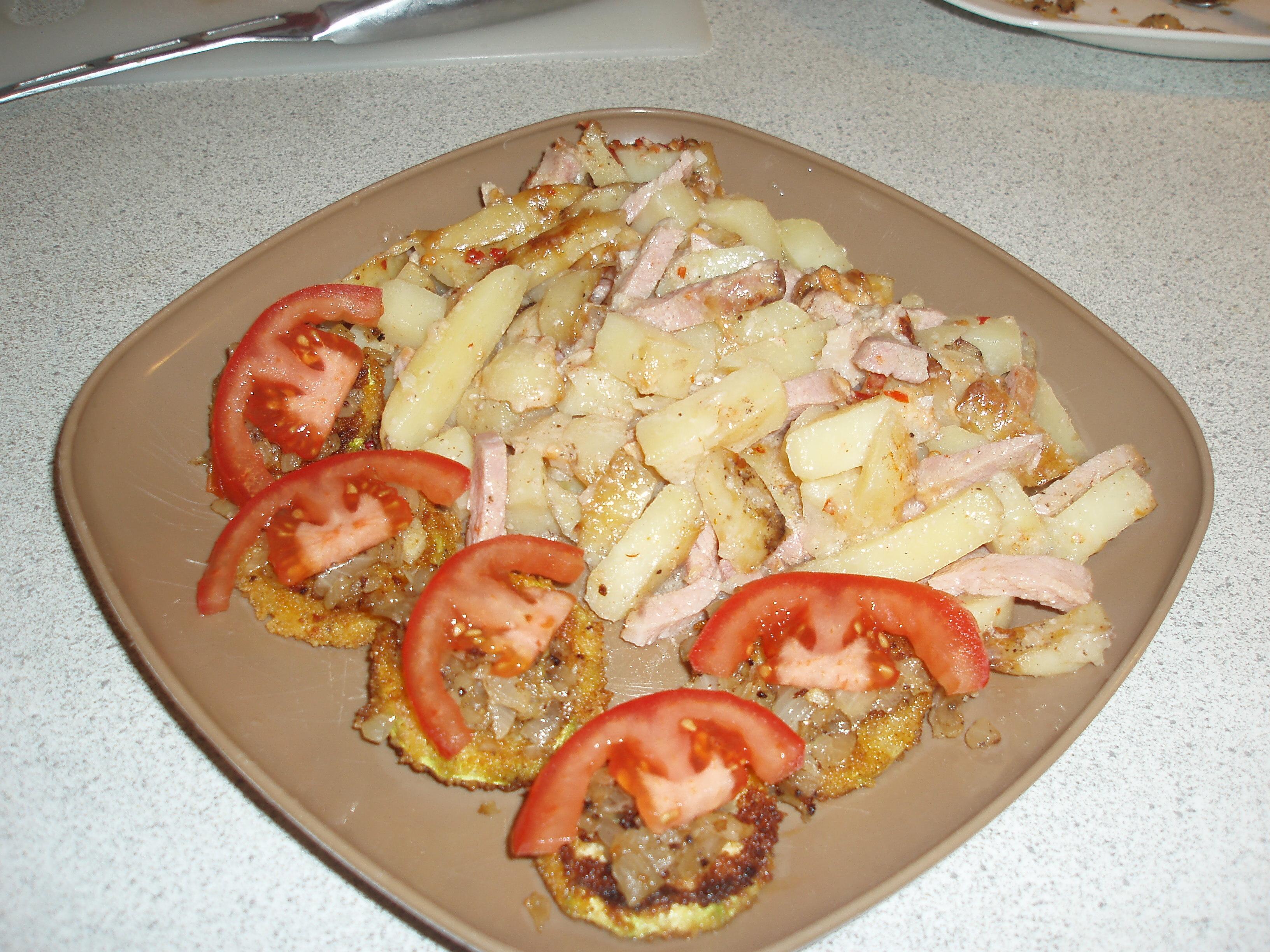 skinka/kassler/korv och potatislåda