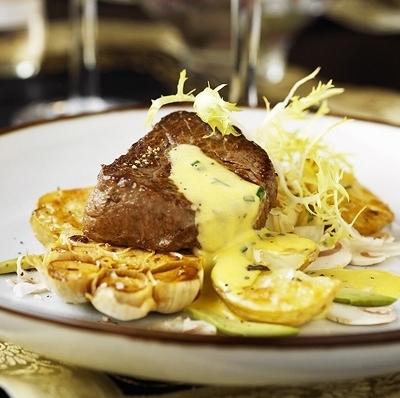 bakad potatis svamp
