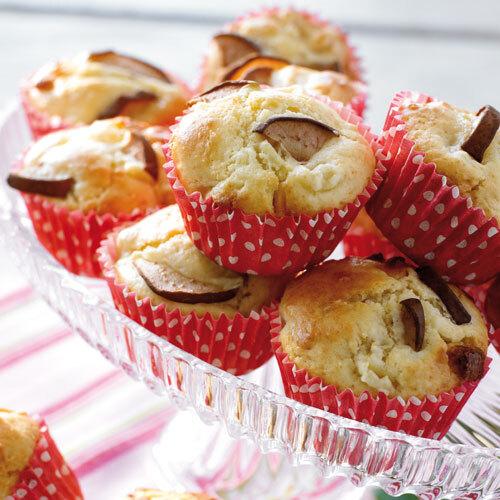 Päronmuffins med vit choklad