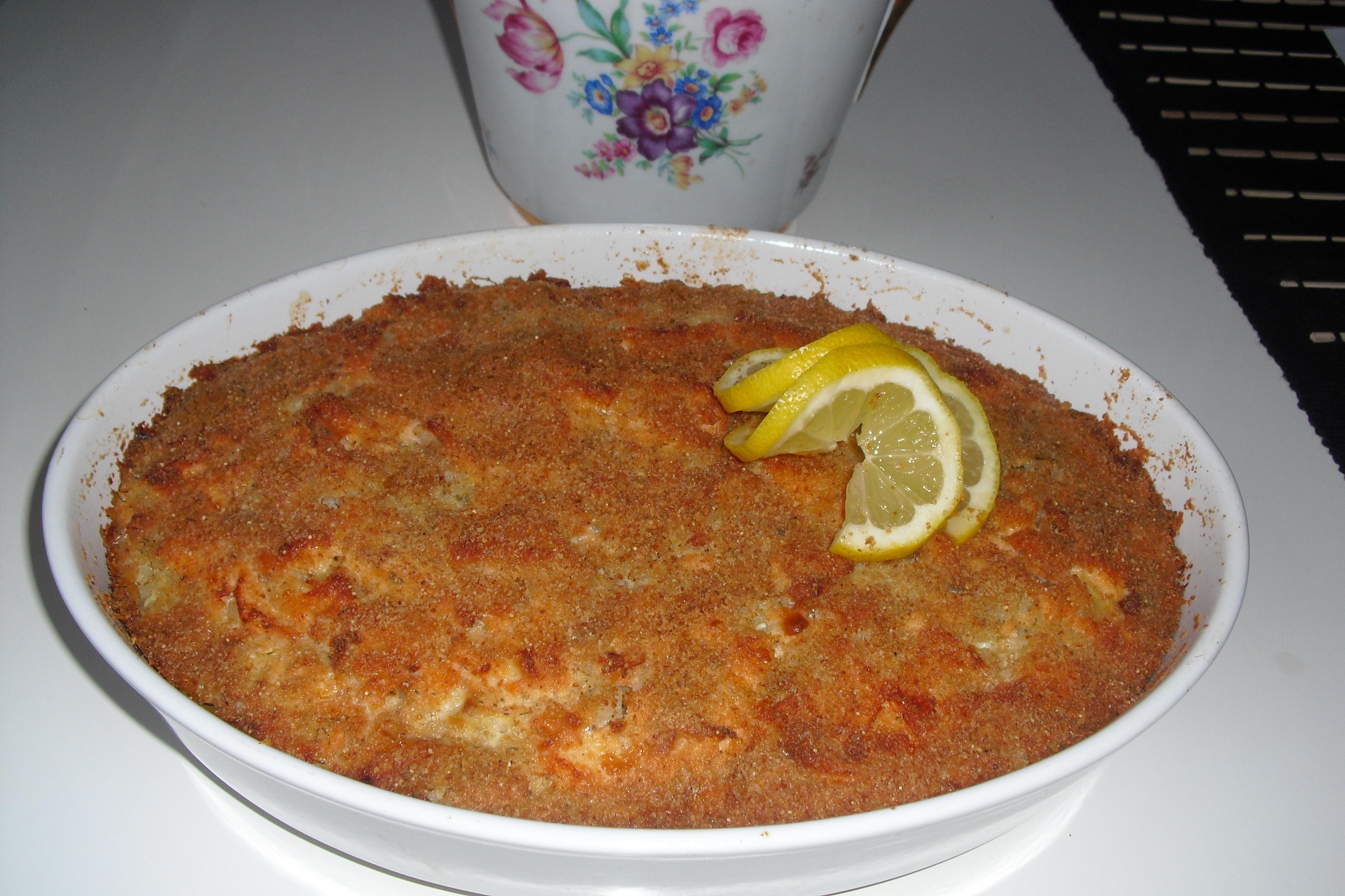 Laxpudding med kaviar och dill