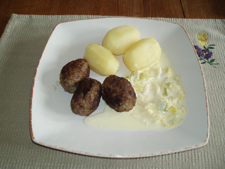 gräddkokt potatis