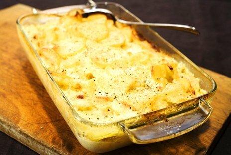 potatisgratäng med lax