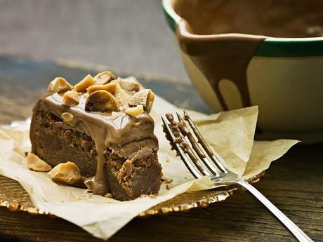Mjölkchokladkaka med nougat och makadamianötter