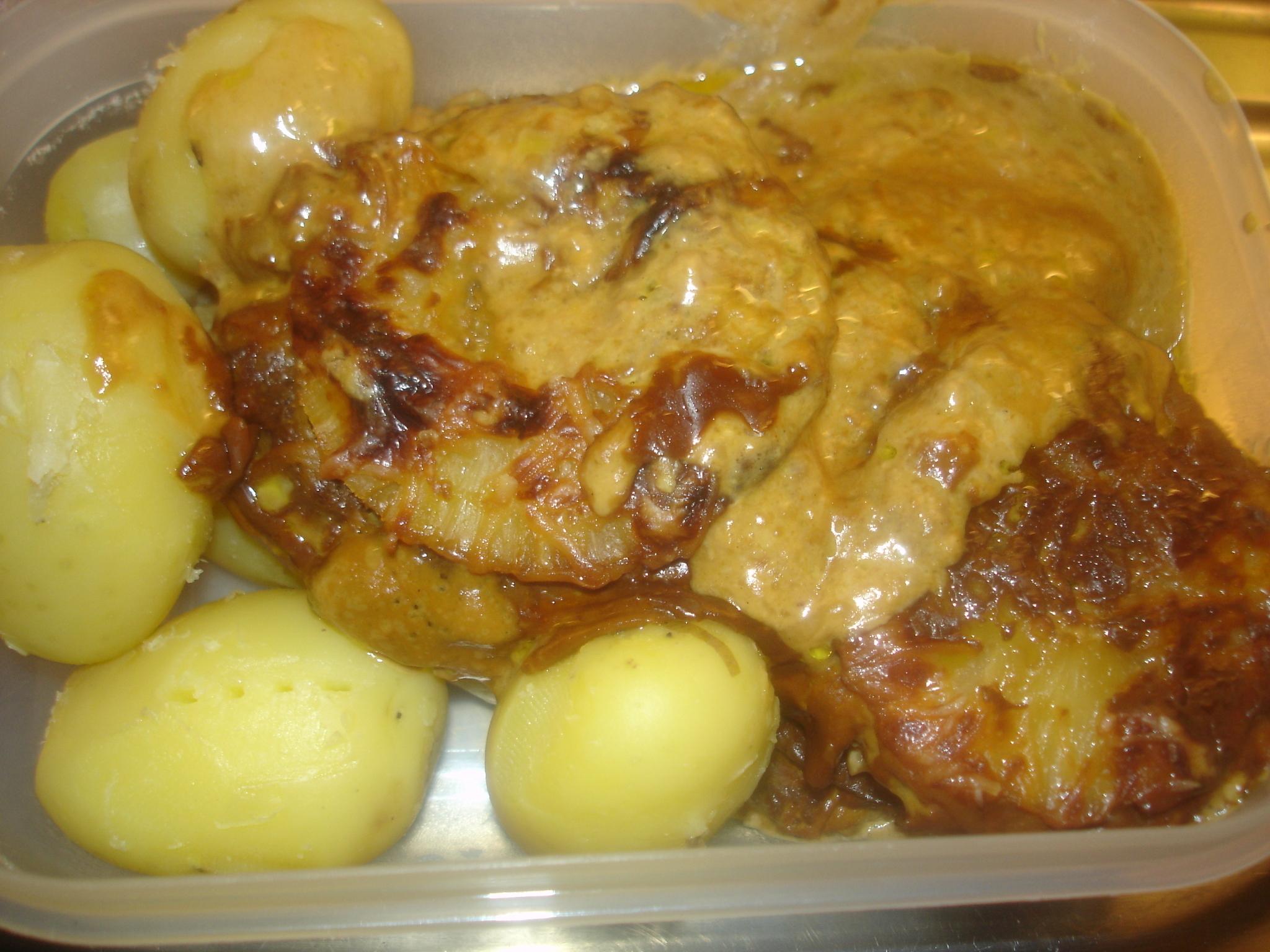 råstekt potatis med grädde