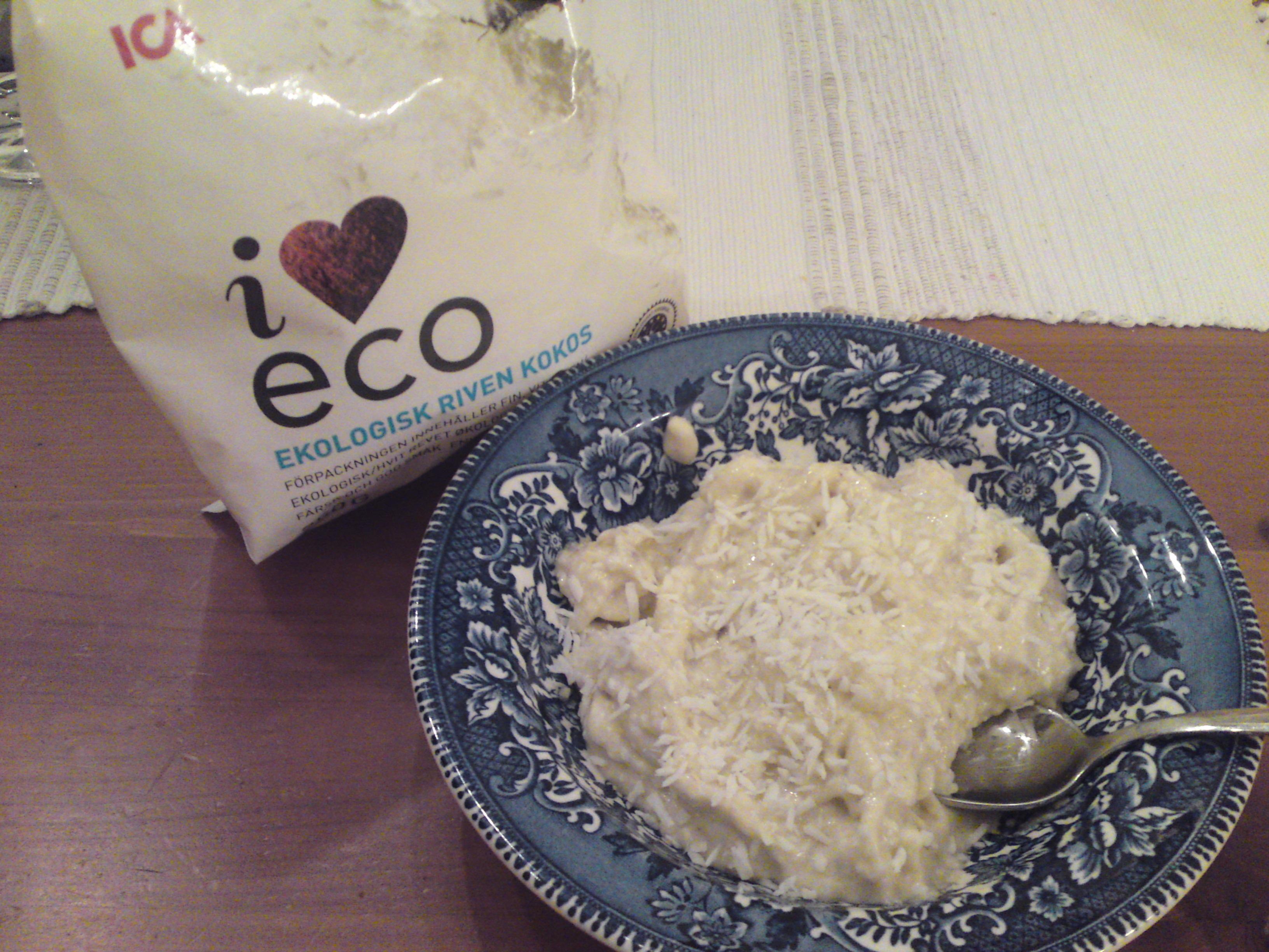 Blåbär/banan och kokosglass