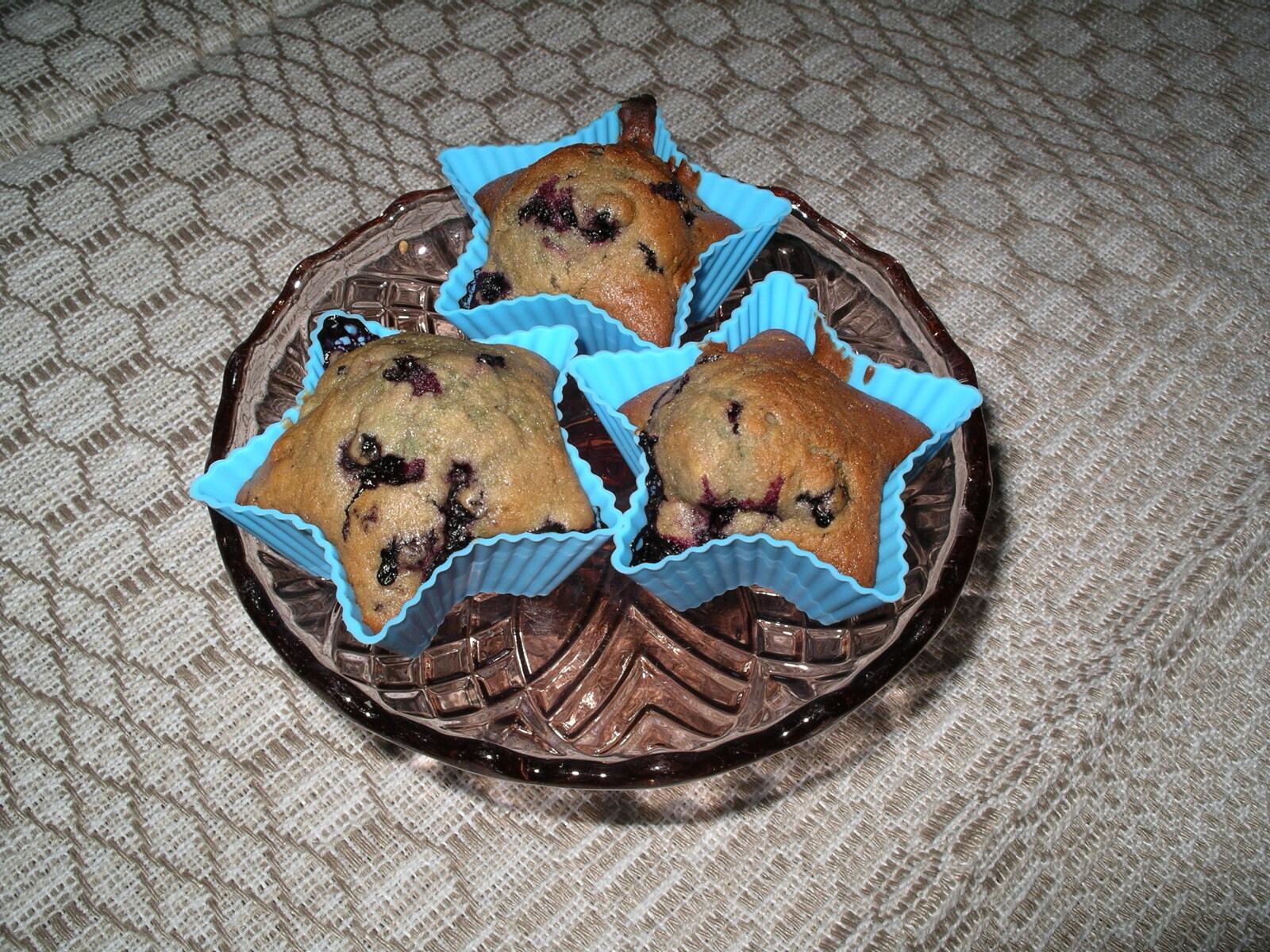 amerikanska muffins hallon