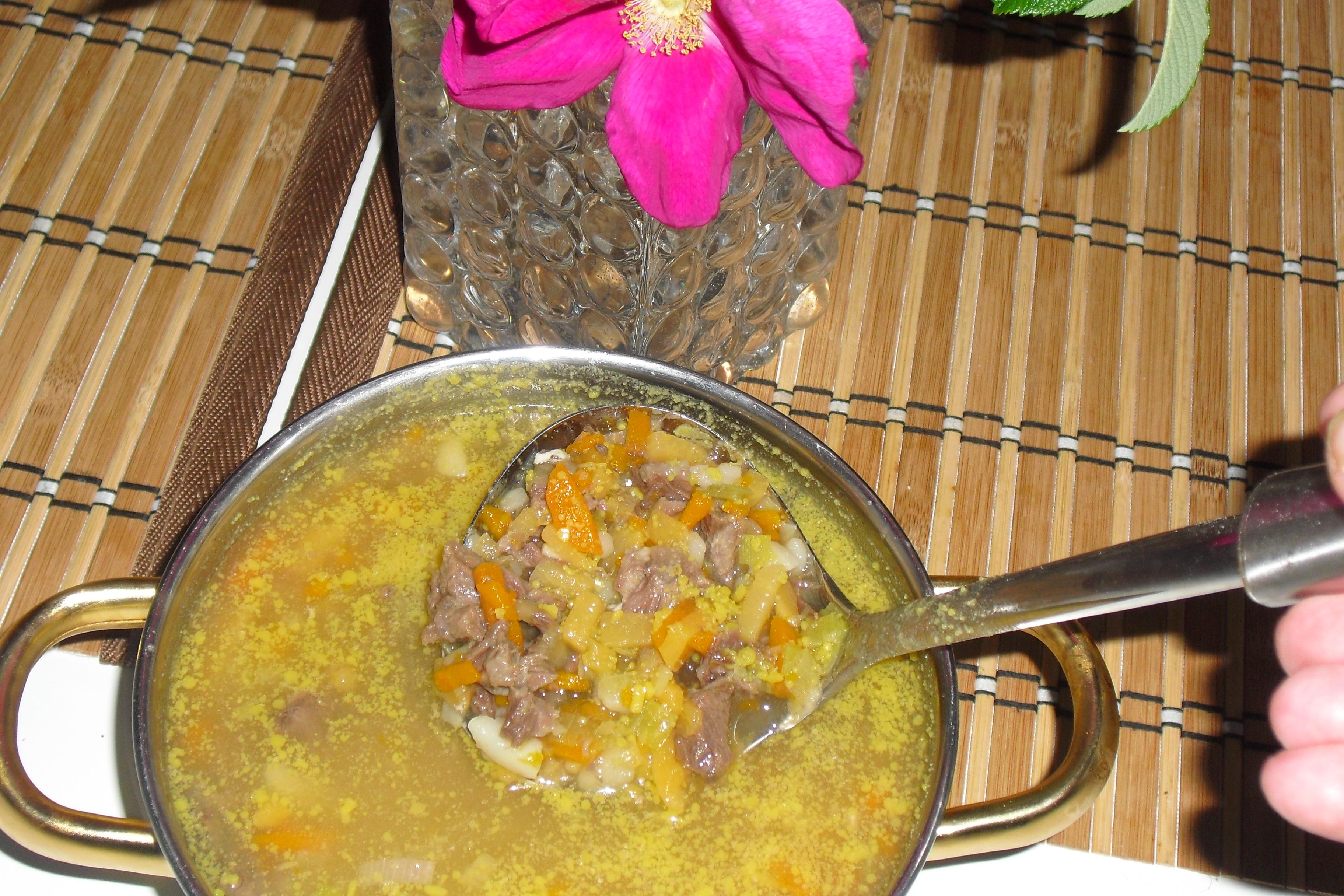 älg kött soppa