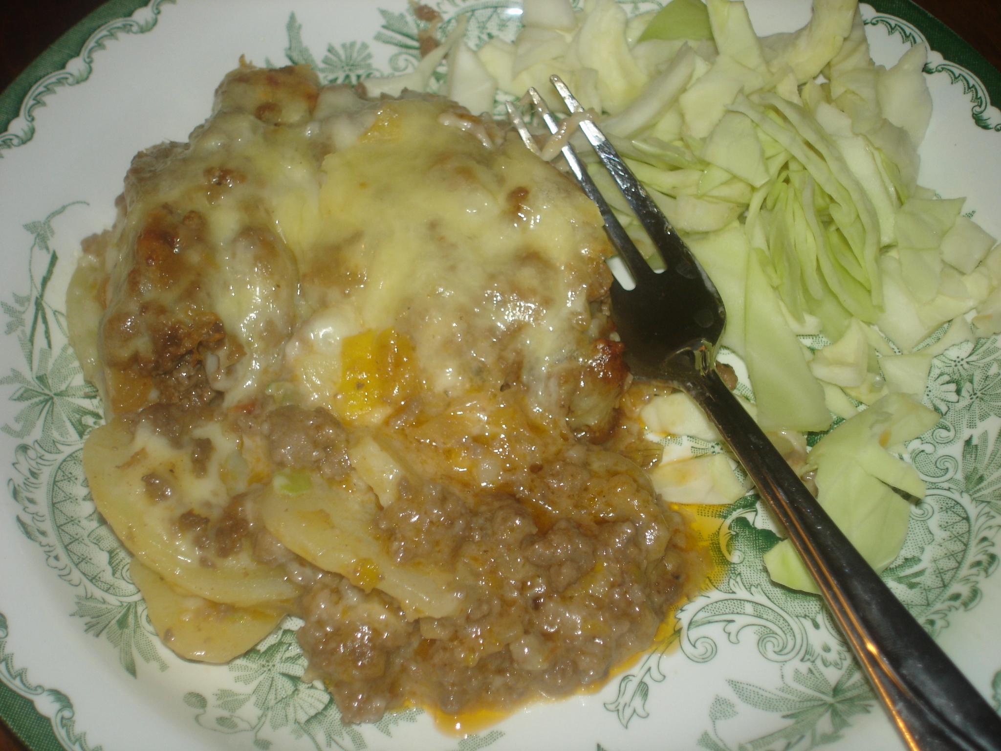 evas goda potatis- och köttfärsgratäng