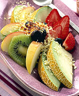 Varm fruktsalla..