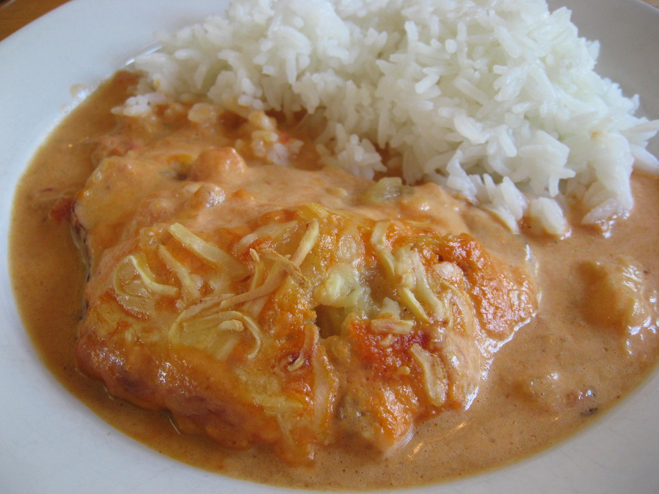Kasslergratäng med chilisås