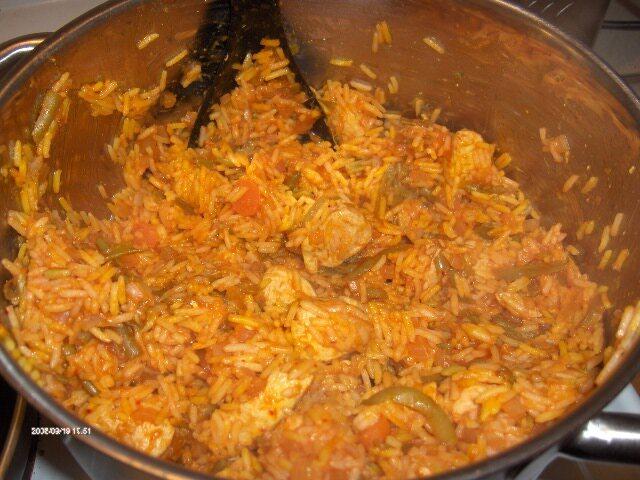 Estamboli Saffransris med kyckling och grönsaker