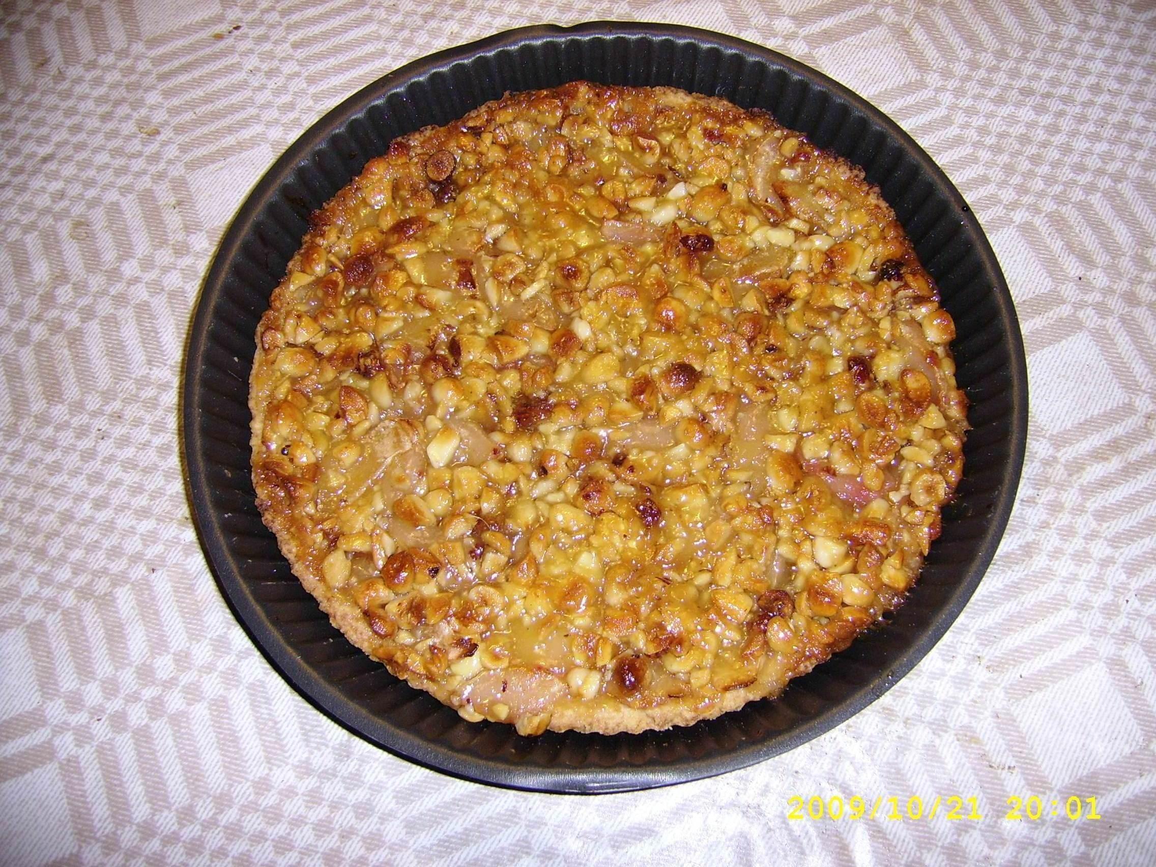 äppelpaj med valnötter
