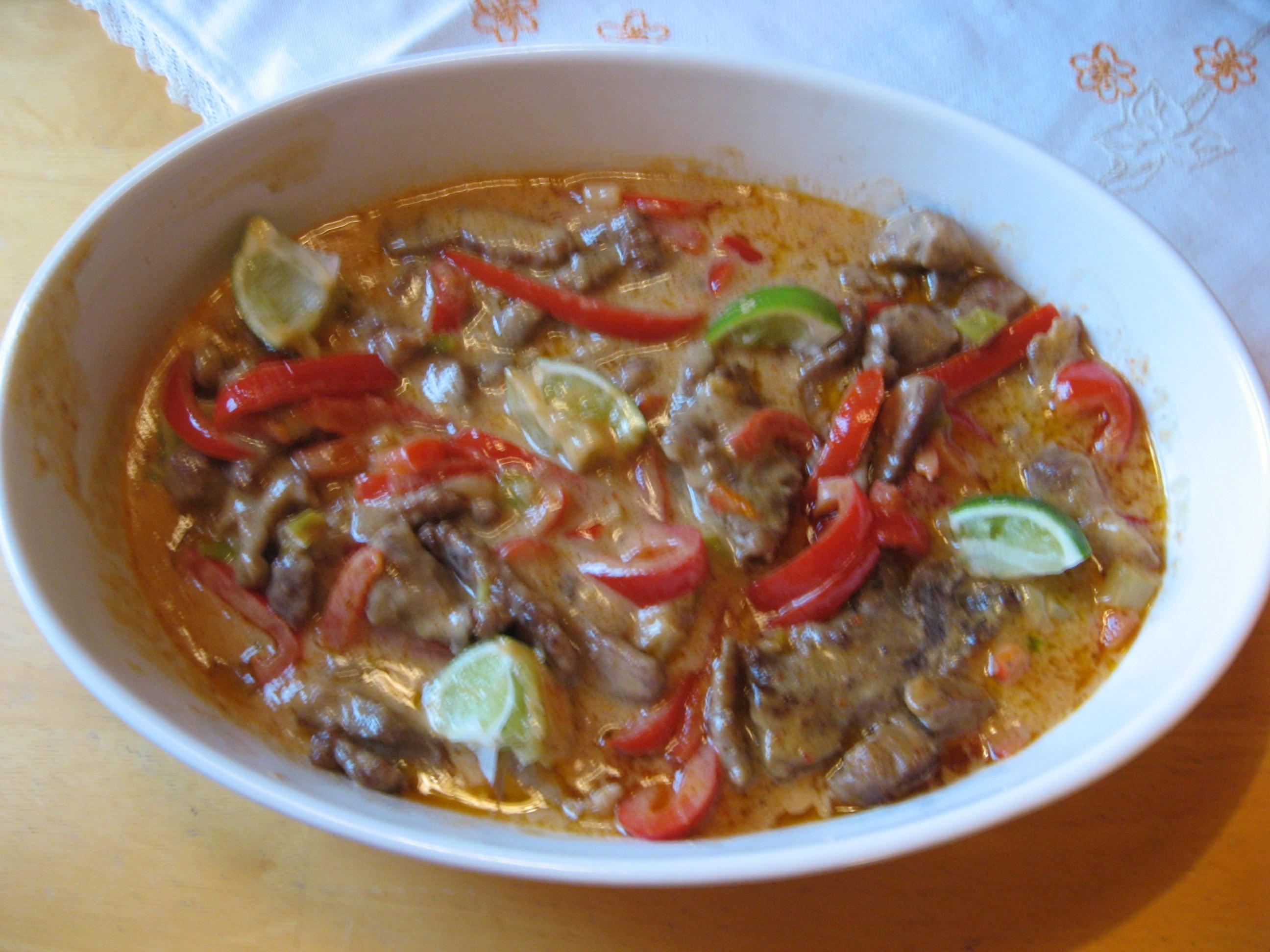 fläskkarré röd curry