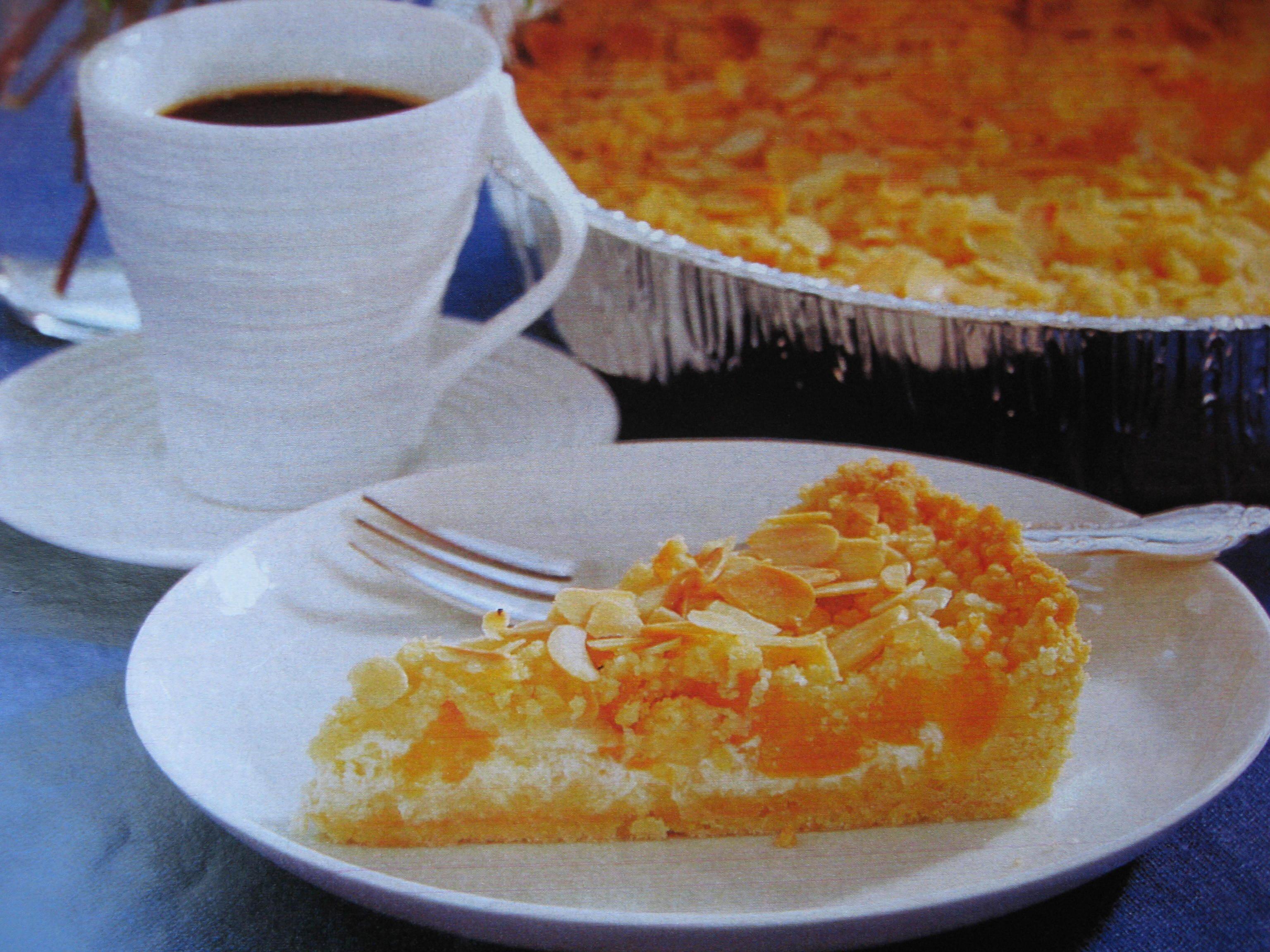 aprikospaj creme fraiche