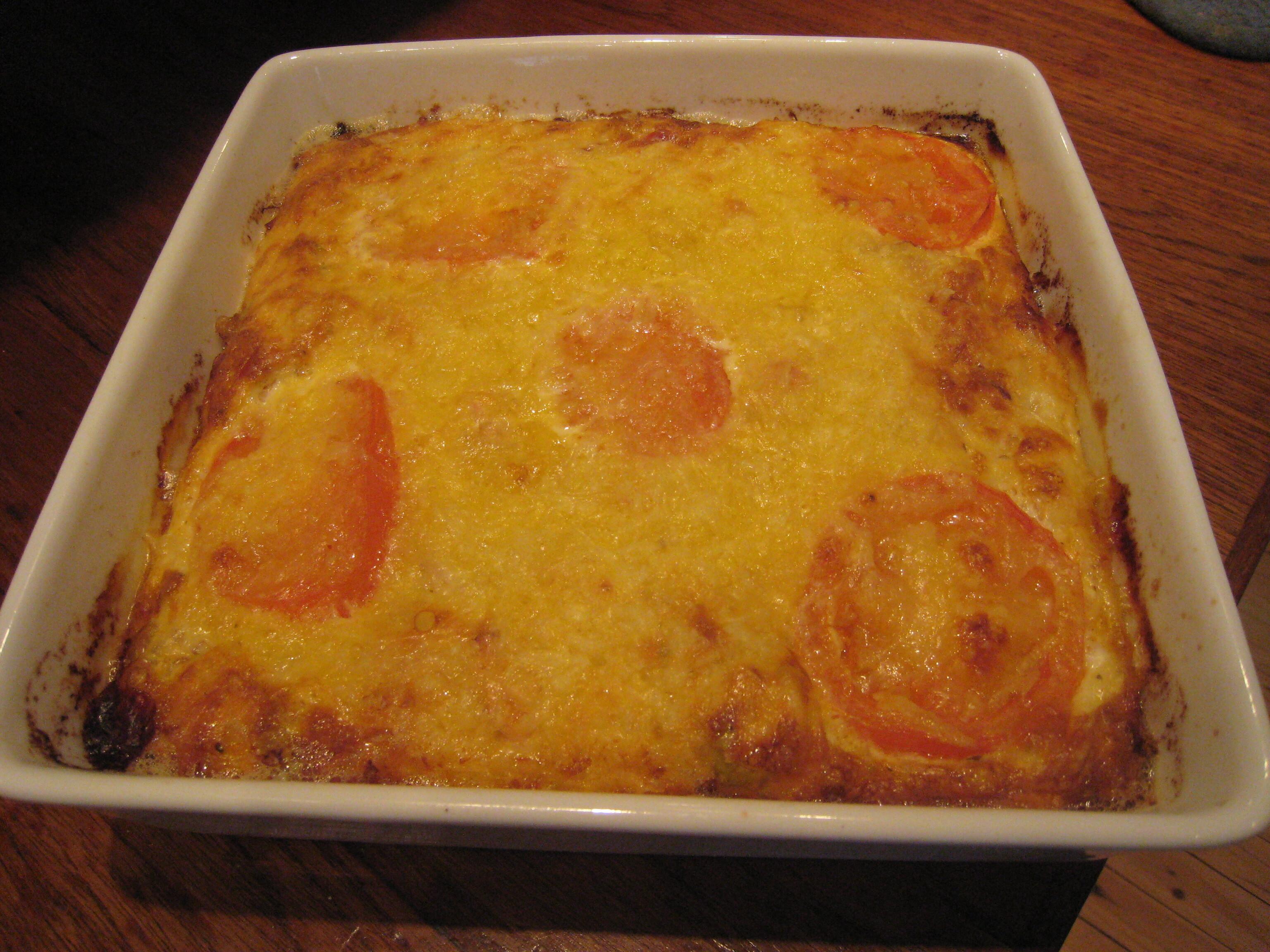 enkel omelett med riven ost