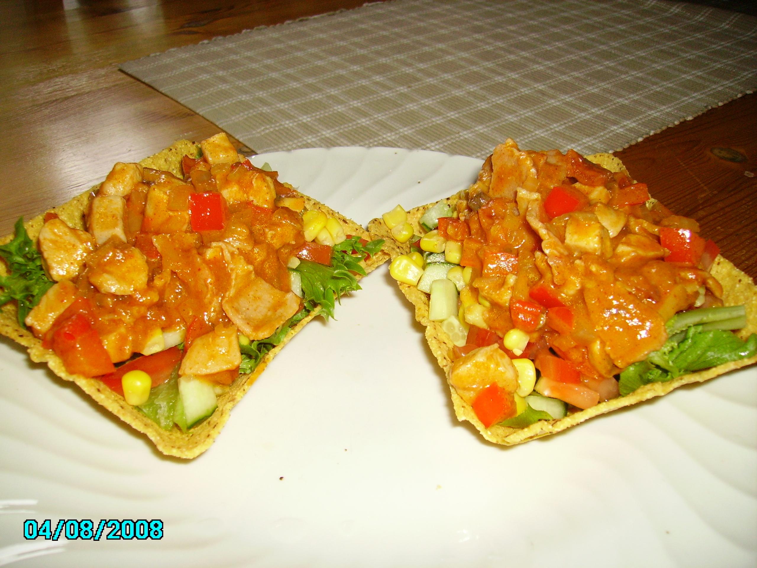 Kyckling tacos.