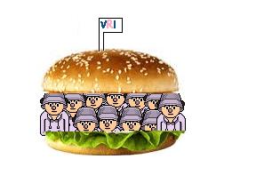 barbequesås hamburgare