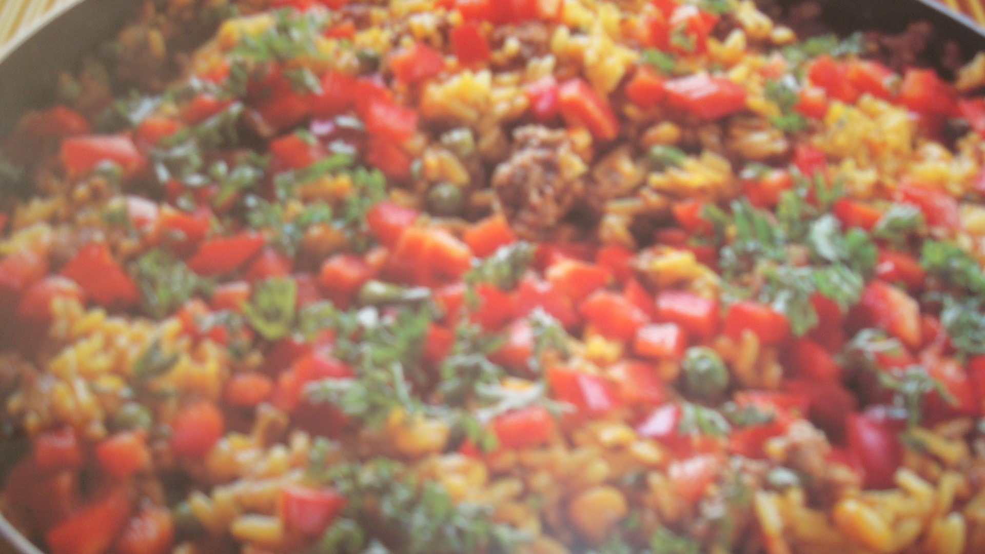 ris ärtor majs paprika köttfärs