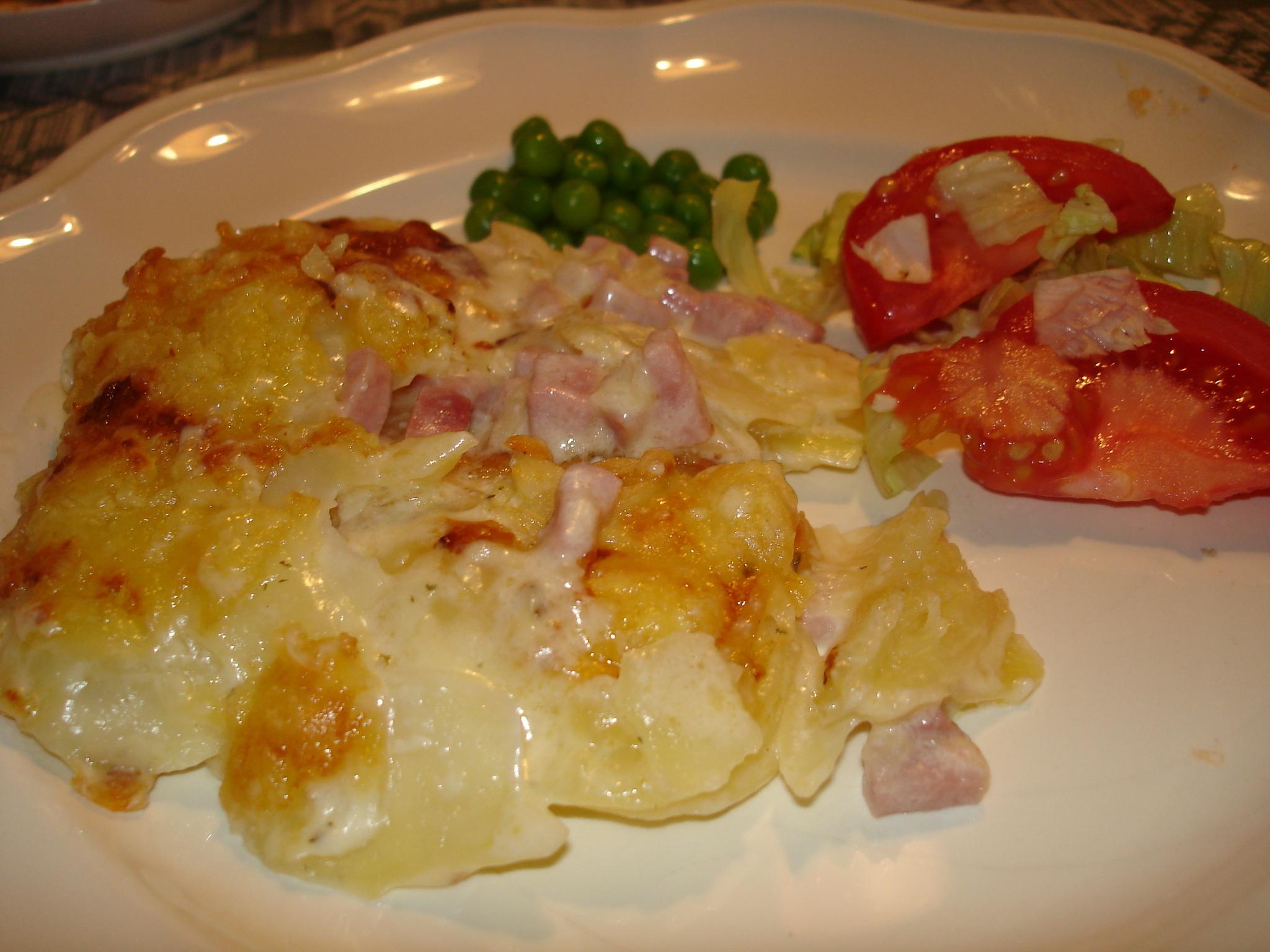 skinkgratäng med potatis