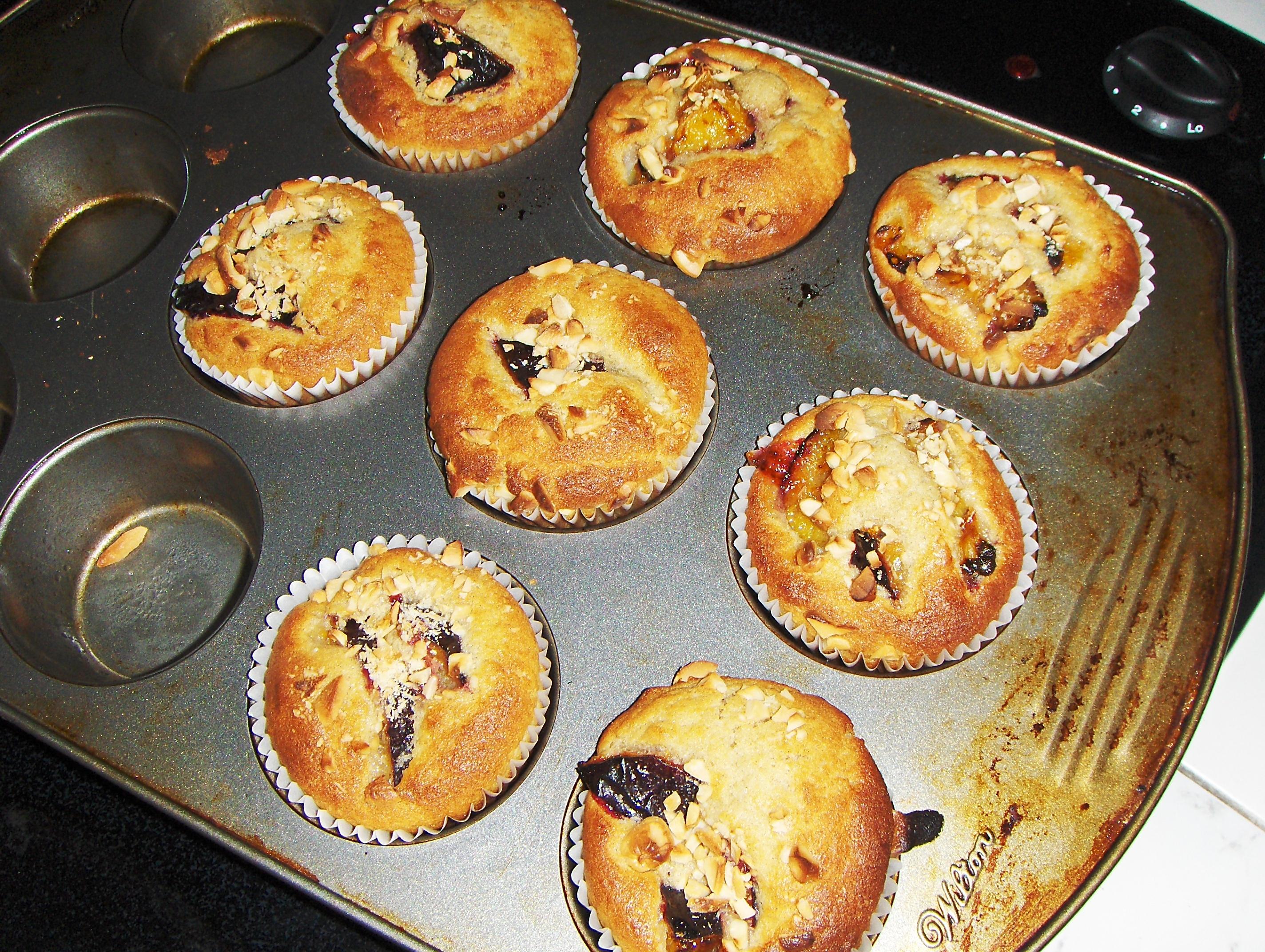 Muffins med plommon