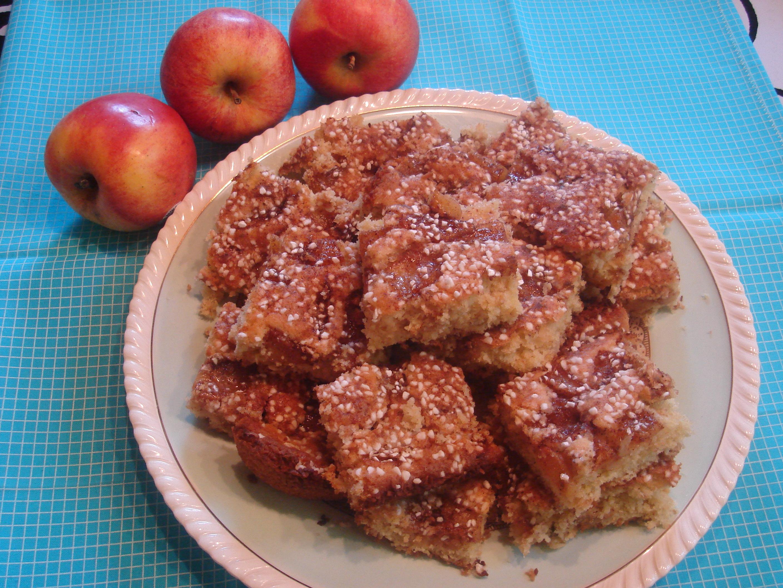 äppelkaka i långpanna med havregryn