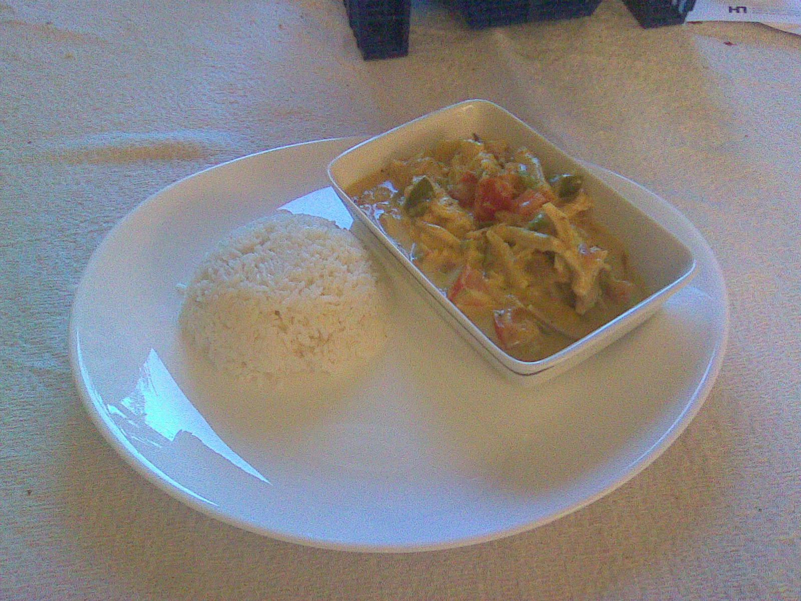 kyckling curry gryta gräddfil