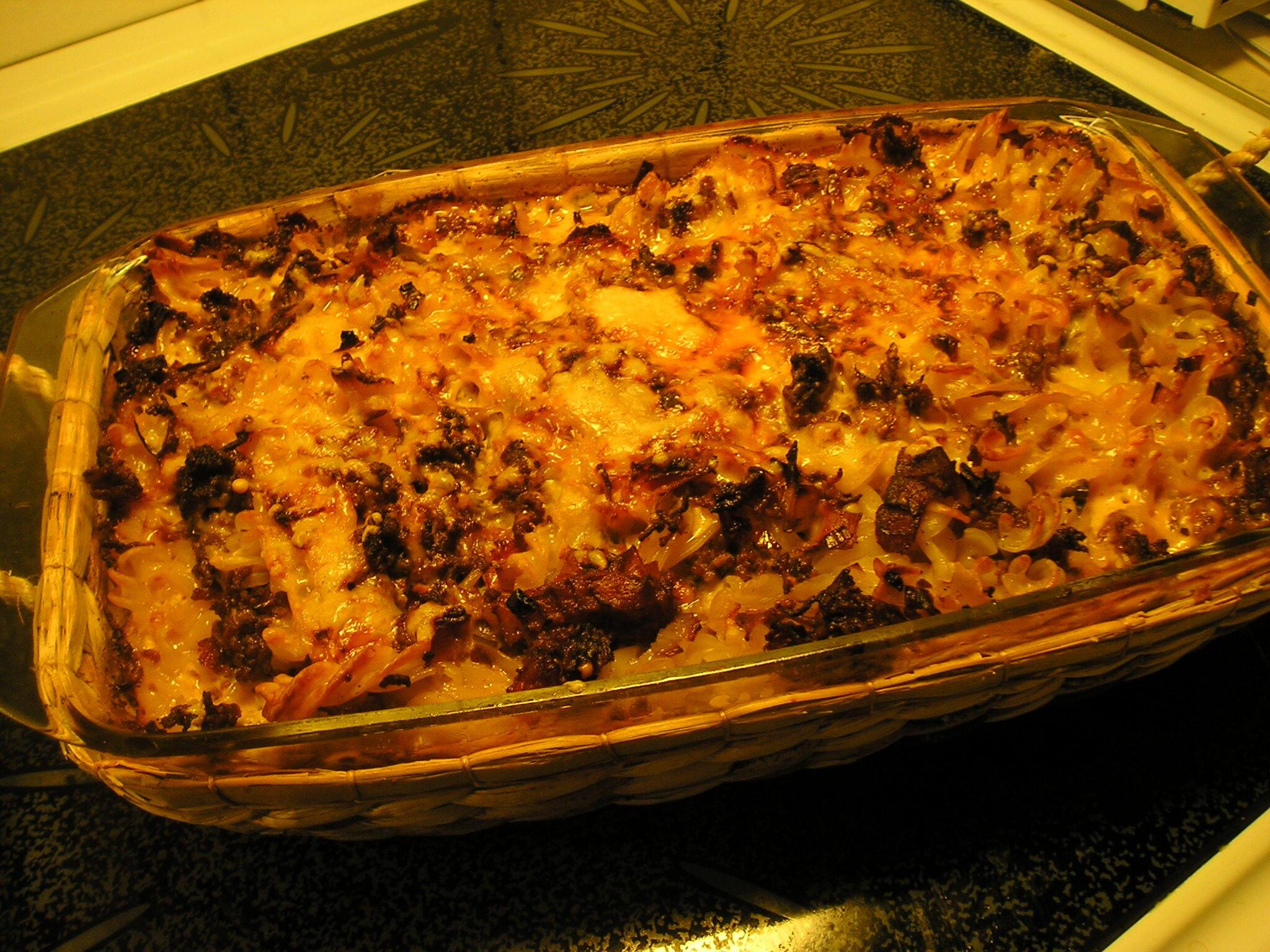 bacon grädde chilisås pasta