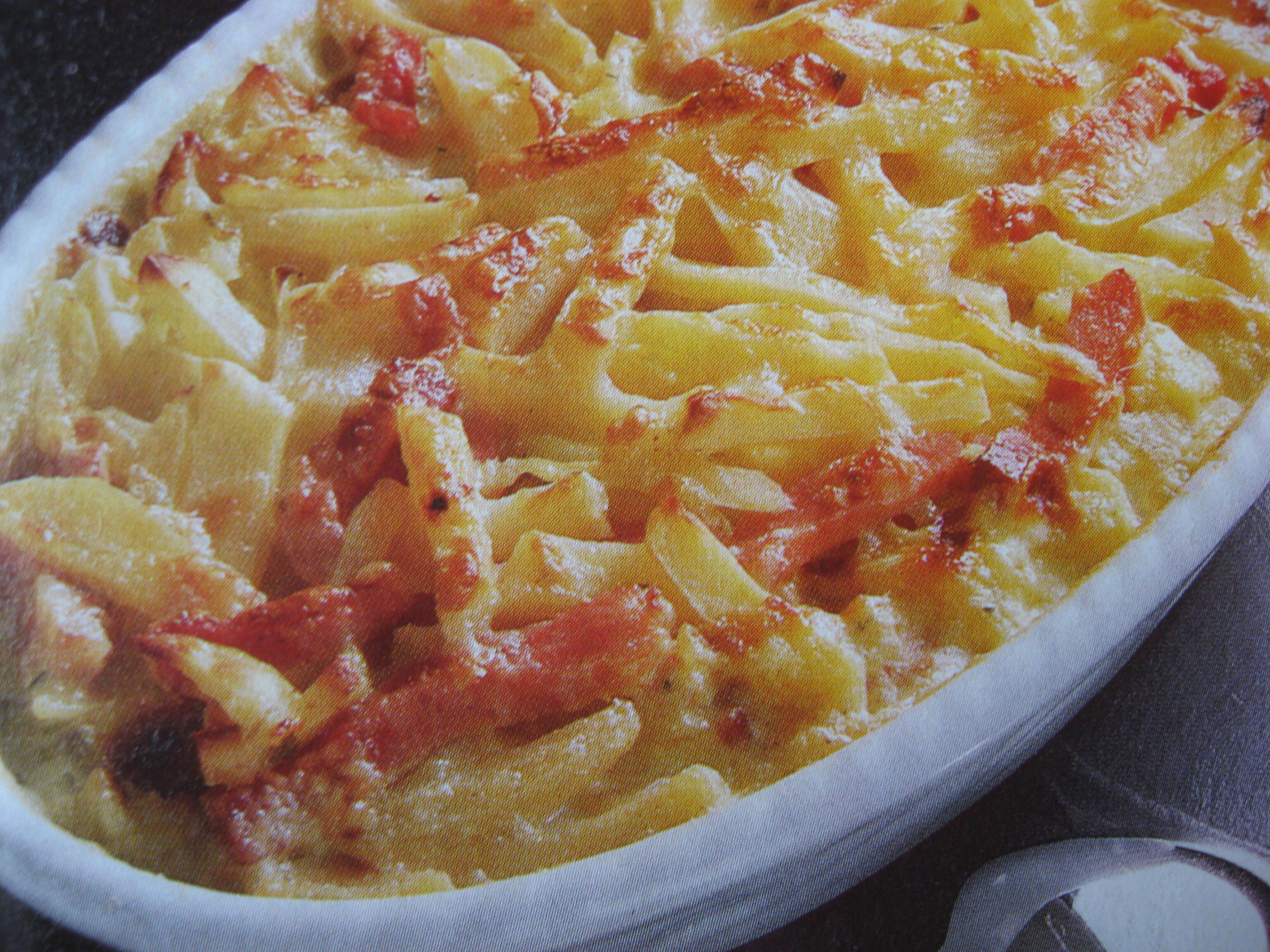 Gratäng med potatis och skinka