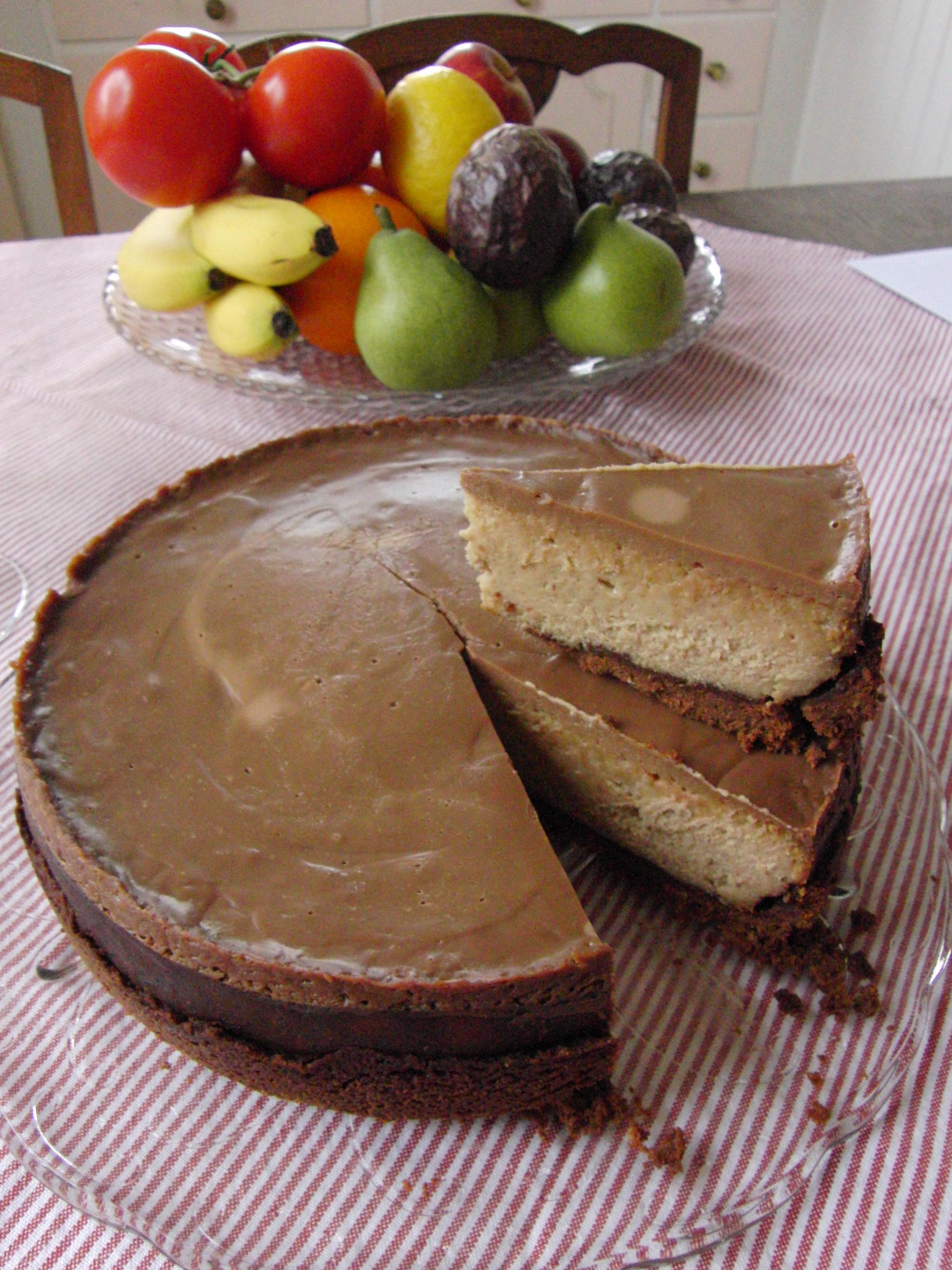Nigellas chokladcheesecake med jordnötssmör