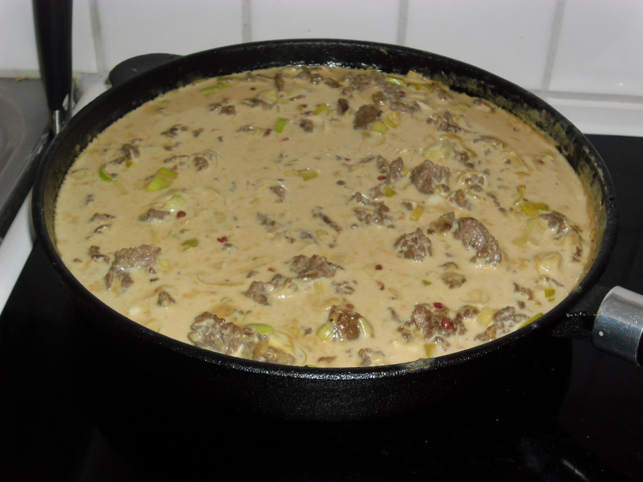 Renskav med pressad potatis