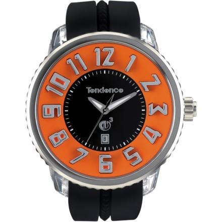 Tendence GULLIVER Round Klocka / Armbandsur Herr Svart/Orange