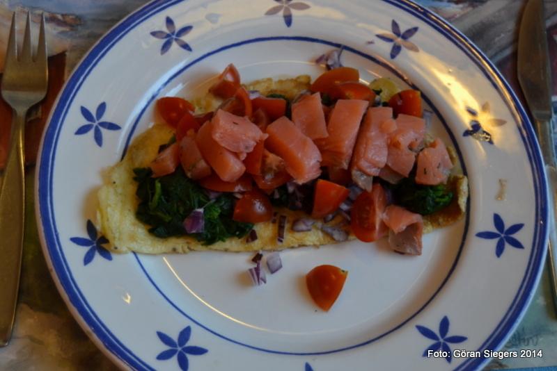 Omelett med lax