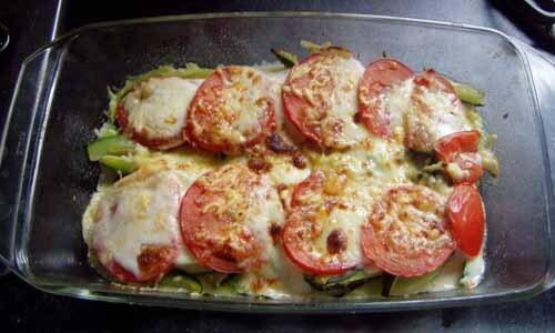 Zucchini tagliatelle