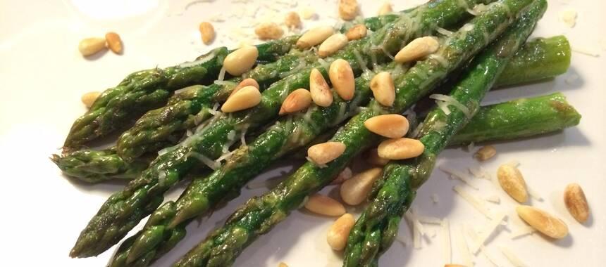 färsk grön sparris recept
