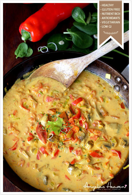 Vegetarisk currygryta med kokosmjölk