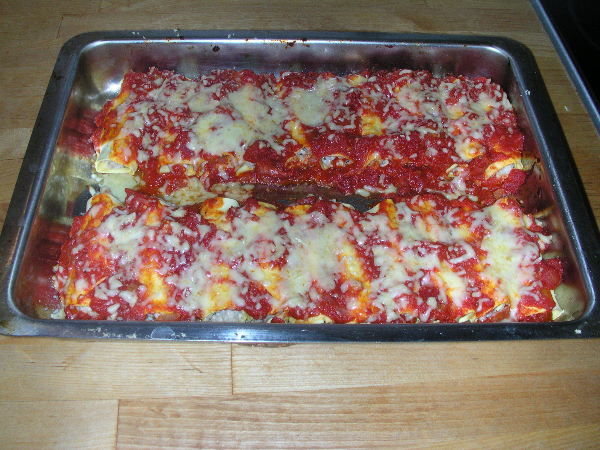 aubergine istället för lasagneplattor